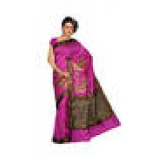 Deals, Discounts & Offers on Women Clothing - Ishin Tussar Cotton Red Saree