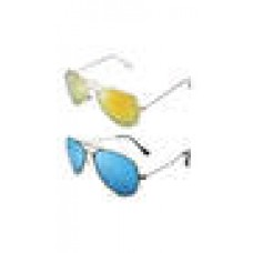 Deals, Discounts & Offers on Accessories - Beaufort Bft-Cb-221082 Aviator Mirror Sunglasses Buy 1 Get 1