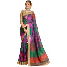 Deals, Discounts & Offers on Women Clothing - Sunaina Printed Fashion Art Silk Sari