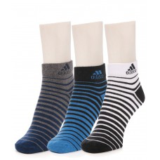 Deals, Discounts & Offers on Accessories - Adidas Men's Flat Knit Quarter Socks - 3 pair