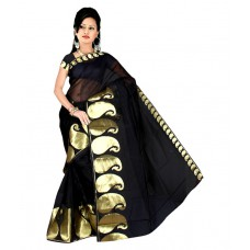 Deals, Discounts & Offers on Women Clothing - Pavecha's Big Border Mango Saree