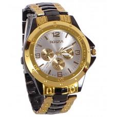 Deals, Discounts & Offers on Accessories - Rosra Golden Black Analog Watch