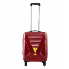 Deals, Discounts & Offers on Accessories - Safari X-Cross Red 4 Wheel Hard Luggage Trolley -Size:Small