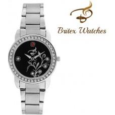 Deals, Discounts & Offers on Women - Britex BT2057 Centrix Jubilee Black Analog Watch