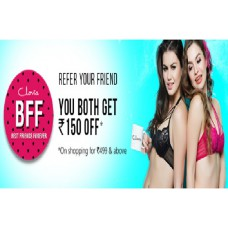 Clovia Offers and Deals Online - Both Get Rs.150 Offer For Women Bras