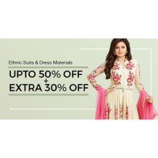 Voonik Offers and Deals Online - Dress Materials Upto 50% offer+ Extra 30% offer