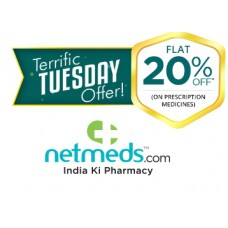 Netmeds Offers and Deals Online - Terrific Tuesday: Flat 20% Off {No Minimum Purchase} + Chance To Win Gold Coin