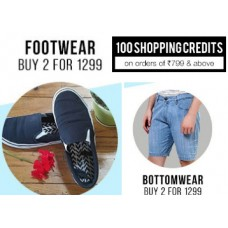 Deals, Discounts & Offers on Foot Wear - Upto 70% Off On All Products + Buy 2 & Get Extra OFF