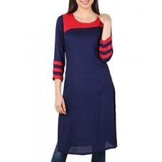 Deals, Discounts & Offers on Women Clothing - Blue Rayon Kurta
