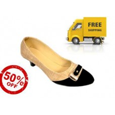 Deals, Discounts & Offers on Foot Wear - Flat 50% Off : Beige Slip On Pump at + Free Shipping