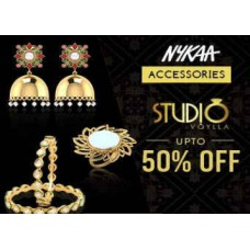 Nykaa Offers and Deals Online - Studio Voylla Jewellery Up to 50% OFF From Rs 299 at Nykaa