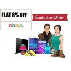 ebay Offers and Deals Online - Shop on Ebay & Get Flat 8% Extra Off (Max. Rs. 3000)