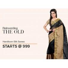 Voonik Offers and Deals Online - Handloom Silk Sarees Starts @ Rs.999