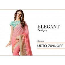 Voonik Offers and Deals Online - Designs Sarees Upto 70% offer