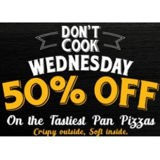 Pizza Hut Offers and Deals Online - Don't Cook Wednesday Offer : Flat 50% Off On Tastiest Pan Pizzas + More Offers