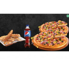 Pizza Hut Offers and Deals Online - Veg Overloaded Pizza+1 Garlic Bread+1 Pepsi at Rs. 329
