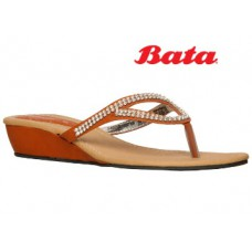 Bata Offers and Deals Online - WOMEN'S BEIGE CHAPPALS at Flat 50% Off + Free Shipping
