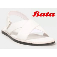 Abof Offers and Deals Online - BATA Men White Sandals at Just Rs.380