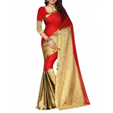 Deals, Discounts & Offers on Women Clothing -  Red,Cram Art Silk Saree