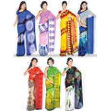 Naaptol Offers and Deals Online - Pure Elegant Collection of 7 Printed Georgette Sarees offer