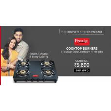 ShopCJ Offers and Deals Online - Prestige 3 And 4 Burner Cooktop