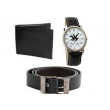 Ordervenue Offers and Deals Online - Super bachat Combo for Men's of wallet+Belt and Polo Watch
