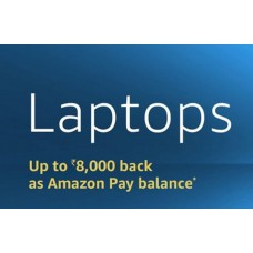 Deals, Discounts & Offers on Laptops -  Up to Rs.8,000 back as Amazon