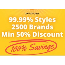 Deals, Discounts & Offers on Fashion - Get Minimum 50% Off on 2500 Brands