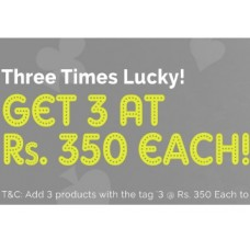 Zivame Offers and Deals Online - Three Times Lucky! Buy Any 3 Bras at Rs. 350 Each !! Limited Period Offer !!