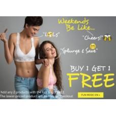 Zivame Offers and Deals Online - Zivame Weekend Sale : Buy 1Get 1 FREE On Comfortable Lingiries