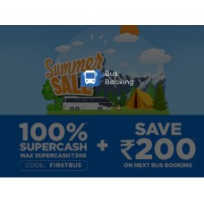 Deals, Discounts & Offers on Travel - Mobikwik FIRSTBUS Offer : Get 100% SuperCash on First Bus Booking