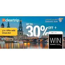 Deals, Discounts & Offers on International Flight Offers - 10% off on Oman Air Flights to Europe & Fare East + Additional 20% cashback + Win a brand new Huawei P10 Plus phone