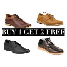 Deals, Discounts & Offers on Foot Wear - Buy 1 Get 2 FREE on Men's Formal Shoes