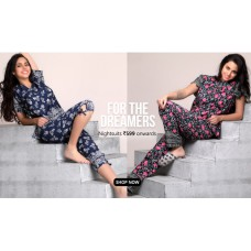 Clovia Offers and Deals Online - Nightsuits offer Rs.599