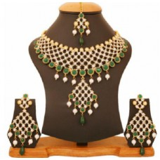 Snapdeal Offers and Deals Online - Touchstone Golden Alloy Necklace Set with Maang Tika