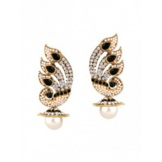 Deals, Discounts & Offers on Earings and Necklace - Flat 45% off on Black Gold Plated Drop Earring