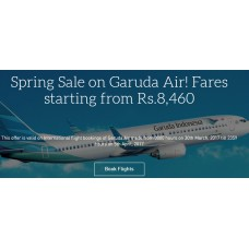 MakeMyTrip Offers and Deals Online - Spring Sale on Garuda Air Fares starting from Rs. 8,460