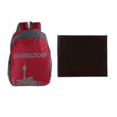 GreenDust Offers and Deals Online - The Blue Pink Dusseldorf Bag and Wallet Combo at Rs. 435