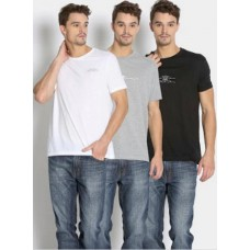 Abof Offers and Deals Online - Duke Men Pack of 3 Slim Fit T-shirts at Flat 50% Off + Extra Rs.100 Off