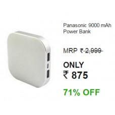Infibeam Offers and Deals Online - Panasonic 9000mAh Smart Power Alpha Power Bank