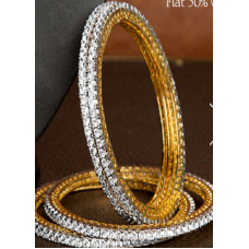 Voylla Offers and Deals Online - Flat 50% off on CZ Studded Pair Of Bangles