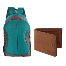 GreenDust Offers and Deals Online - Bag and Tan Mens Wallet Combo