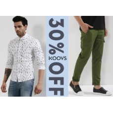 Koovs Offers and Deals Online - Get Flat 30% Off On Koovs Clothing from Rs. 349
