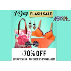 Nykaa Offers and Deals Online - Nykaa 1 Day Flash Sale - Intimatewear, Accessories at Up to 70% OFF