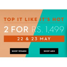 Koovs Offers and Deals Online - Hot Summer Sale : Buy any 2 at Just Rs. 1499 + FREE Shipping