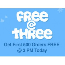 FirstCry Offers and Deals Online - Free @Three Get First 500 Order Free @3 PM Today