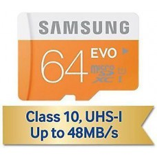 ebay Offers and Deals Online - Samsung Evo 64 GB MicroSDHC Class 10 48-MB/s Memory Card at Just Rs.502