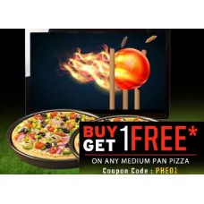 Pizza Hut Offers and Deals Online - Pizza Hut Delicious Offer - Buy 1 Get 1 FREE On Your Favorite Pizzas