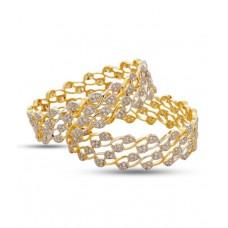 Deals, Discounts & Offers on Women - Jewels Galaxy Elegant Set of 2 AD Bangles