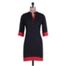 Deals, Discounts & Offers on Women Clothing - Quarter sleeved cotton kurta offer